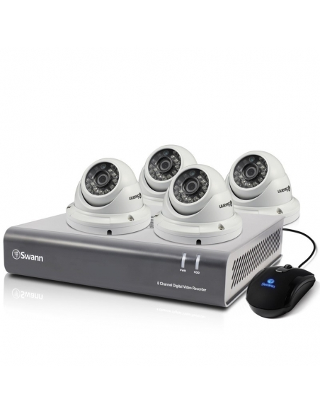 Swann SWDVK-845504D 8CH Security Recorder 2MP 1080P 2TB & 4x T854 Dome Cameras
