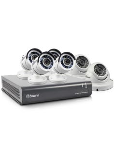 Swann SWDVK-845562D 8 channel TVI 1080P DVR with 2TB HDD and 4x T853 Bullet Cameras and 2 T853 Dome Cameras