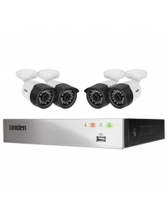 Uniden Guardian GDVR8T40 8 Channel 1080P TVI Recorder with 1TB HDD and 4 x Bullet Security Cameras