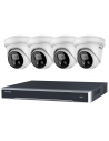 Hikvision 8MP 4 x IP Acusense Outdoor 4MM Turret With Strobe & Siren + 8CH NVR CCTV Kit - HIKIT8-83T-4A4