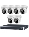 Hikvision 8CH 3TB 6x PoE 4K/8MP 2.8MM Strobe Siren Dome Cameras  HIKIT8-83T-6A28