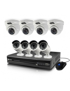 Swann 4MP 16 Channel NVR with 4 x NHD-818 Bullet and 4 x NHD-819 Dome Cameras