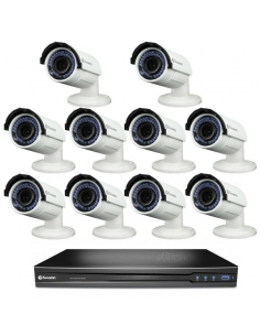 Swann SWNVK-167095-10B 16Ch 3MP Recorder 4TB & 10 x NHD830 Bullet Cameras