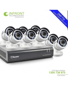 Swann 8 channel TVI 1080P DVR with 2TB HDD and 8x T853 Bullet Cameras