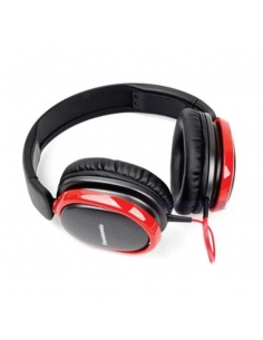 Panasonic RP-HBD250E-K Red Heavy Bass Headphones Specially Tuned for Big Bass