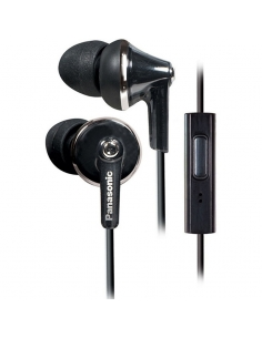 Panasonic RP-TCM190E-K Ergofit Plus Extra Bass Earphones With Mic