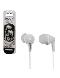 Panasonic RP-HJE125E-W Ergofit In-ear Earbud Headphones with 1.1M cord - White