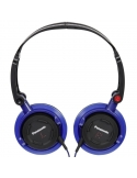 Panasonic DJS150E-A DJ Style Blue Over Ear Deep Bass Headphones Compact Foldable
