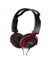 Panasonic DJ Style Over Ear Deep Bass Headphones - Red
