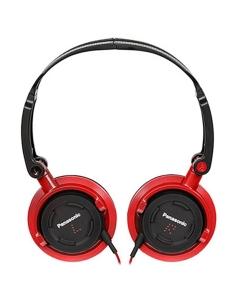 Panasonic DJ Style Over Ear Deep Bass Headphones - Red