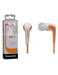Panasonic RP-HJE140E-D Powerful Sound In Ear Headphone - Orange