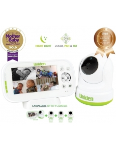Uniden BW 3451R PTZ Digital Wireless Baby Monitor expand to 4 Cameras