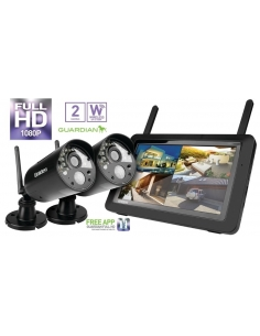 Uniden G3720 Guardian 7inch Wireless Security Camera Kit 1080P 2 Cameras