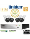 Uniden Guardian GDVR4T40 4 Channel 1080P TVI Recorder with 1TB HDD and 4 x Bullet Security Cameras