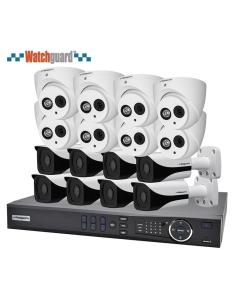 Watchguard Compact 16 Channel 2.0MP IP Surveillance Kit (8 Domes, 8 Bullets)