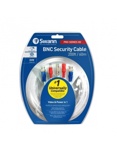 Swann HD Video & Power Cable - 60Mtrs use with HD Analogue