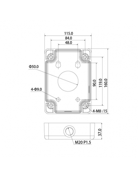 Adapter/Junction Box for PTZ Dome Cameras