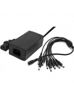 PSU 12V 5A Camera / General Power Supply + 8Way DC Splitter
