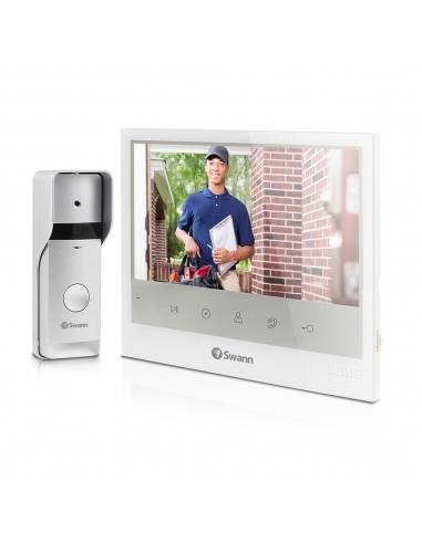 Swann Expandable Intercom Video Doorphone With 7 Inch LCD Monitor