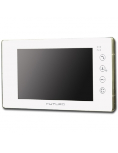 Futuro Video Front Door Intercom with Intercommunication White -FUT-SD4-Wht-NoM