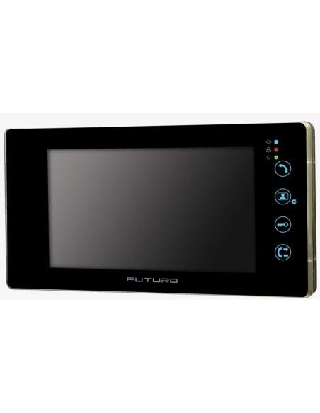 Futuro Video Intercom Kit with Black Finish Includes Flush Mount CP4 Camera Unit - FUT-102B-KIT