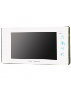 Futuro Video Intercom Kit With Gloss White Finish Includes Record Function And Flush Mount CP4 Camera - FUT-111W-KIT