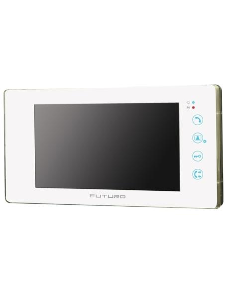 Futuro Video Intercom Kit With Gloss White Finish Includes Record Function And Flush Mount CP4 Camera - FUT-111W-KIT