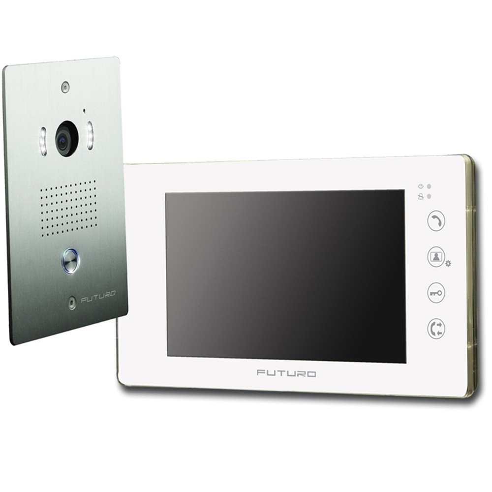 futuro video intercom kit with gloss white finish includes record function and flush mount cp4 camera fut 111w kit futuro intercom wiring diagram futuro wiring diagrams collection auth intercom wiring diagrams at mifinder.co