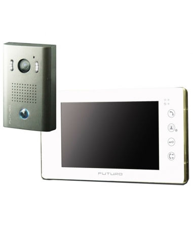 Futuro Video Door Intercom Kit White With Memory Surface Mount CP4 Camera