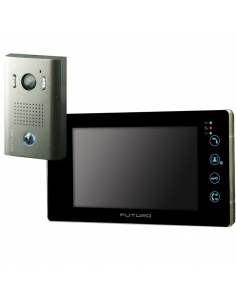 Futuro Video Intercom Kit With Gloss Black Finish Includes Record Function And Surface Mount CZ4 Camera Unit - FUT-211B-KIT