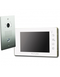 Futuro Video Intercom Kit with White Screen Flush Mount CP4 Camera - FUT-101W-KIT