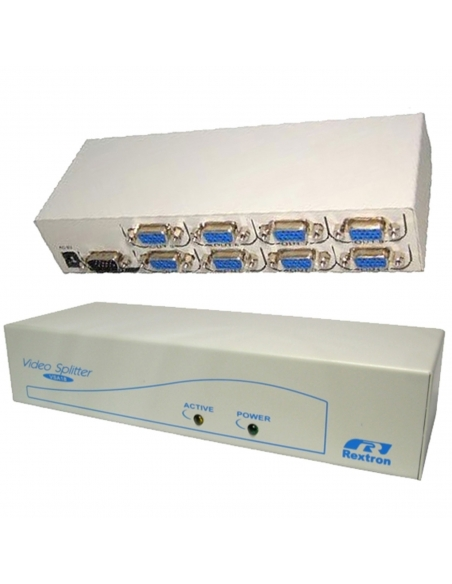 VGA Powered Splitter 8 Way SVGA 350Mhz