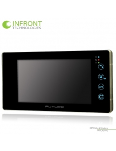 Futuro Video Front Door Intercom with Intercommunication - FUT-SD4B-Blk-NoM