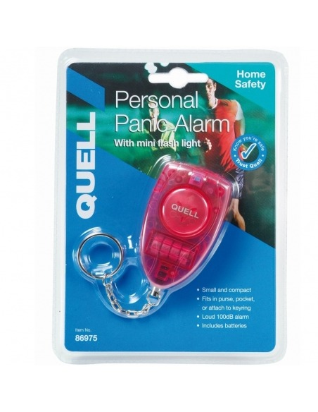 Personal Alarm Red Pull Chain with Torch