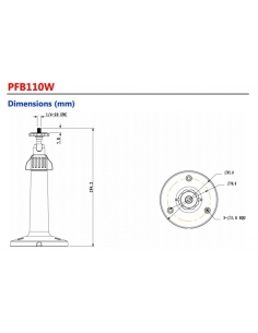 Dahua Wall Mount Bracket DH-PFB110W