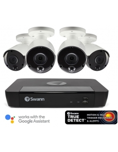 Swann 5MP SWNVK-875804 2TB 4x NHD-865MSB True Detect Cams w Audio