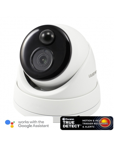 Swann 5mp IP True Detect White Dome Camera w Audio