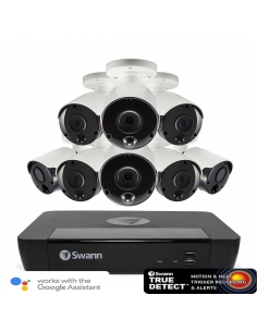 NVR8-8580 4K Capable / 2TB / 8 x NHD-885MSB 4K True Detect White Bullet Cameras w Audio