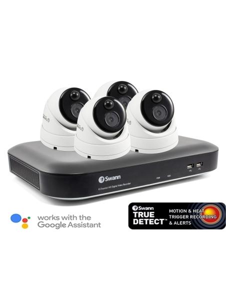 Swann works with Alexa Google Voice Surveillance True Detection