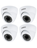 Uniden 2MP CVI 4PK GDCH01M Metal Dome Security Camera Suit Uniden GCVR BNC+12V
