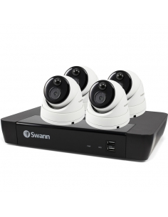 Swann 8MP SWNVK-885804D 4K 2TB 4x NHD-886MSD True Detect Cams Audio NVR8-8580
