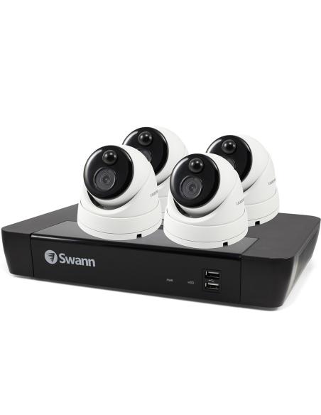 Swann 8MP SWNVK-885804D 4K 2TB 4x NHD-886MSD True Detect Cams Audio NVR8-8580