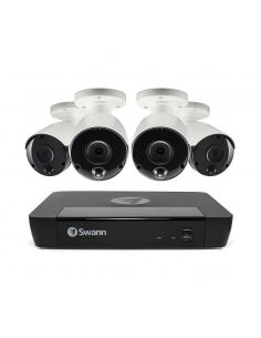 Swann 8MP SWNVK-885804 4K 2TB 4x NHD-885MSB True Detect Cams Audio NVR8-8580