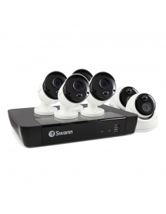 Swann 5MP 8Ch HD Security System 2TB HDD & 6 x 5MP Thermal Sensing Cameras