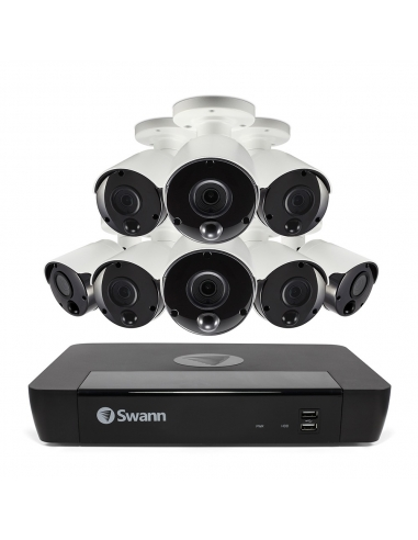 Swann 5MP SWNVK-1675808 SuperHD 2TB 8x NHD-865MSB Thermal Sensing Cam w Audio