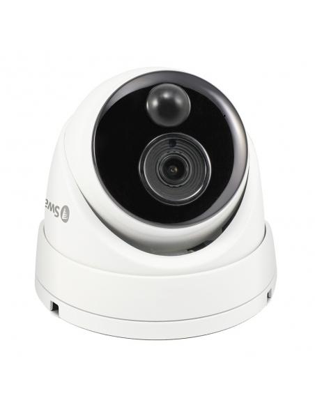 Swann 5MP Super HD Thermal Sensing Dome IP Security Camera Weatherproof, Night Vision, Audio Capture, PoE