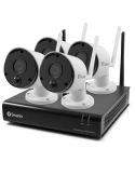 Swann 4 Ch 1080p Wireless NVR 32GB Micro SD Card, 4 x 1080p Wi-Fi Thermal Sensing Cameras
