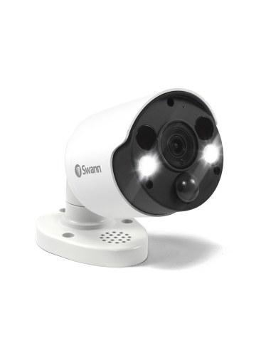 Swann 8MP SWNHD-885MSFB True Detect PIR Spotlight 4K with 2 way Audio, Siren & IR Night Vision