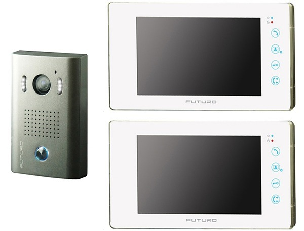 futuro-video-intercom-kit-with-2-x-white