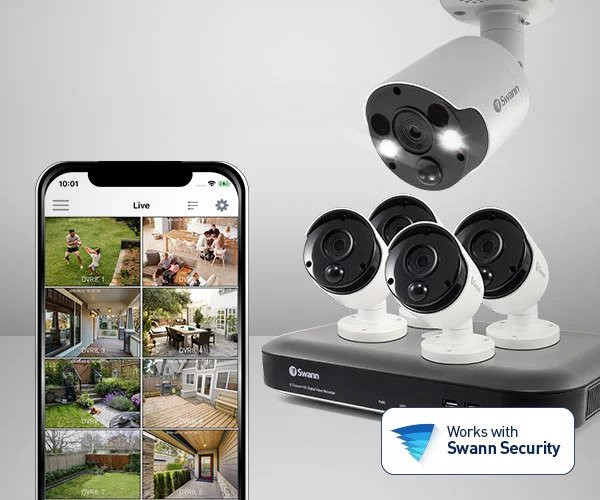 Smart Home Automation - Wireless Heat and Motion Swann Camera